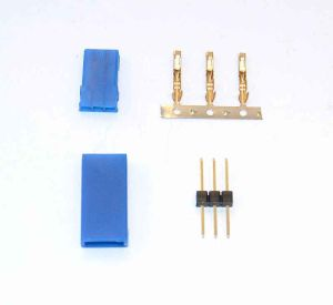 Spina GOLD BLUE LINE servo tipo JR/Hitec 10 pz