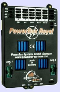 PowerBox Royal Spektrum + SensorSwitch + Display + Adjustor Board