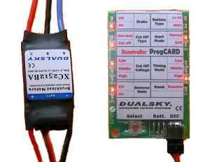 Dualsky program card