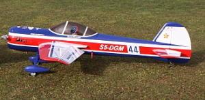 GB-Models Yak 55m Bruckmann 2.20 mt. bianco/rosso/blu