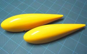 Carenature ruote fibra 2.2 mt - gialle