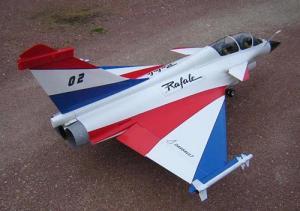 Aviation Design RAFALE 1/7 ARF Bianco