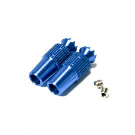 Secraft Stick ends V1 - M3 BLUE Fut/Hitec/DX8