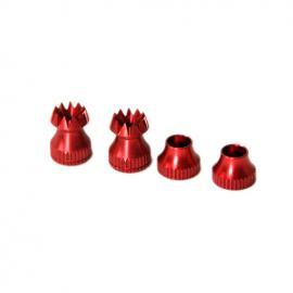 Secraft Stick Ends V2 - M3 RED Fut/Hitec/DX8