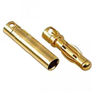 Connettori dorati da 4 mm. - coppia