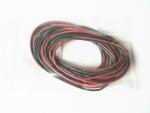 Cavo rosso/nero 2x200 cm. siliconico 0,50 mm.