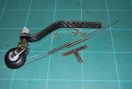 Tail wheel assembly carbon fiber 60/90