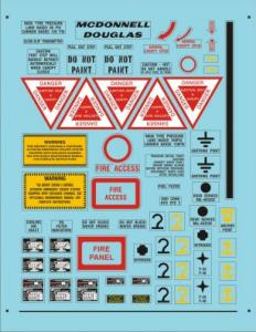 Decals for airplanes
