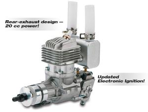 DLE 20RA Gasoline engine scarico posteriore