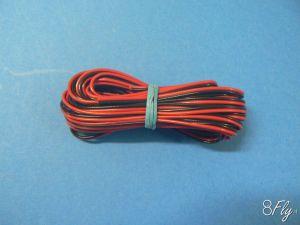 Cavo PVC rosso/nero 2x0,14mm - 5mt-