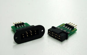 Wing connector 8pin with pin strip, plug & socket