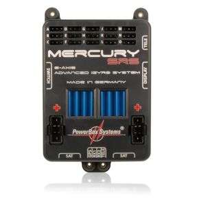 PowerBox MERCURY SRS + Sensorswitch + OLED-Display and GPS