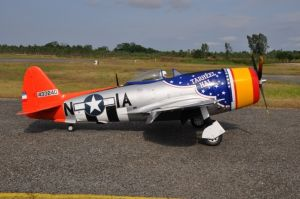 CARF P-47 Bubble Top 1:4.5  2,80mt All Silver