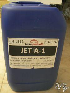 Tanica da 20 lt di cherosene JET-A1 per turbine