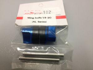 Secraft wing bolts 1/4-20 (AL screw)-BLUE