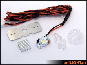 UniLIGHT Luci di posizione 10/24mm 8W rotonda bianca