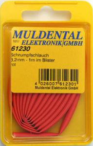 Shrinkable tubing 12,7mm red