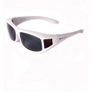 Copri occhiali da vista anti sole bianco