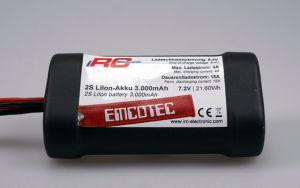 "Emcotec 2S LiIon battery 3000mAh ""Compact"" Black Edition 15A"