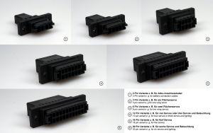 Emcotec Click di collegamento 6 PIN prese e spine chiudibili