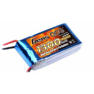 Gens Ace batteria lipo 1300mAh 7.4V 25C 2S1P
