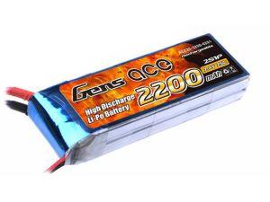 Gens Ace batteria lipo 2200mAh 7.4V 25C 2S1P