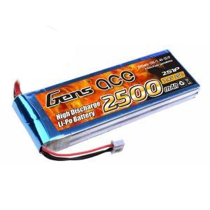 Gens Ace batteria lipo 2500mAh 7.4V 25C 2S1P