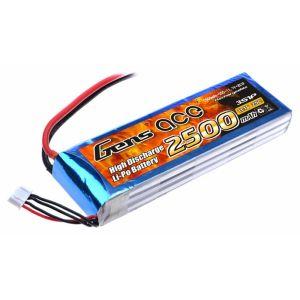 Gens ace 2500mAh 11.1V 25C 3S1P Lipo Battery Pack