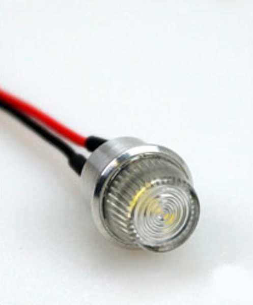 OPTOTRONIX Luci di posizione ACL 16mm (0,63in) a cono bianca