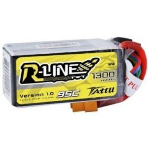 Gens Ace TATTU 1300mAh 14.8V 95C 4S1P Lipo Battery Pack