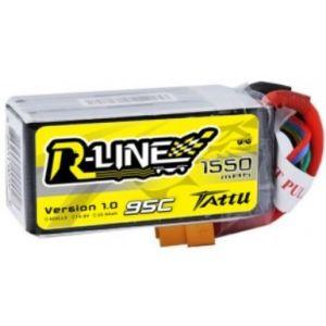 Gens Ace Tattu R-Line 1550mAh 95C 4S1P lipo battery pack