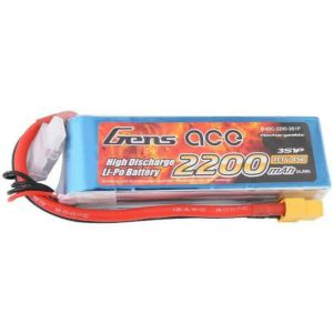 Gens ace 2200mAh 11.1V 25C 3S1P Lipo Battery Pack with XT60 Plug for DJI Phantom