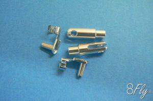 G-Force Aluminium Clevis Heavy Duty w/safety clip M2 2pcs