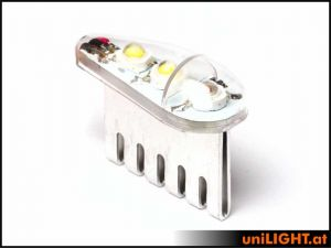 UniLIGHT luci di navigazione+strobo 16W 18mm bianche/verdi