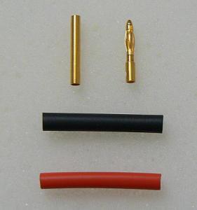 Connettori dorati da 2 mm. con termoretraibile