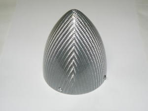 "Ogiva 100 mm. Fiberglass silver mod. extra 3.95"""