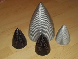 "Ogiva 100 mm. Fiberglass silver mod. ultimate 4"""