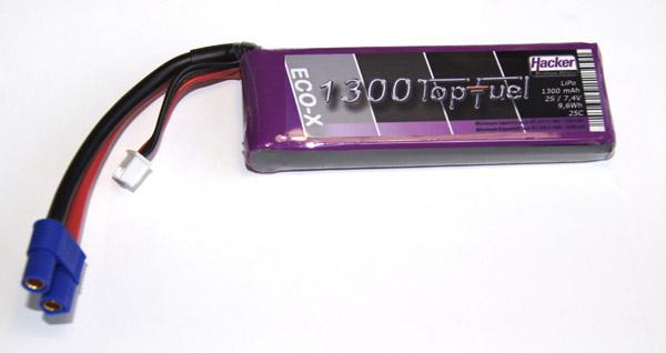 Hacker Lipo TopFuel ECO X 1300mAh 2S 20C